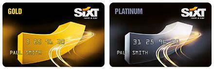 Sixt Gold Platinum Card
