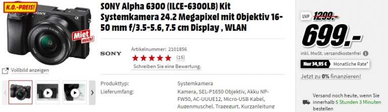 Sony Alpha 6300 MediaMarkt