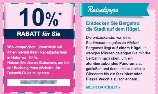 10% Air Dolimiti Gutschein