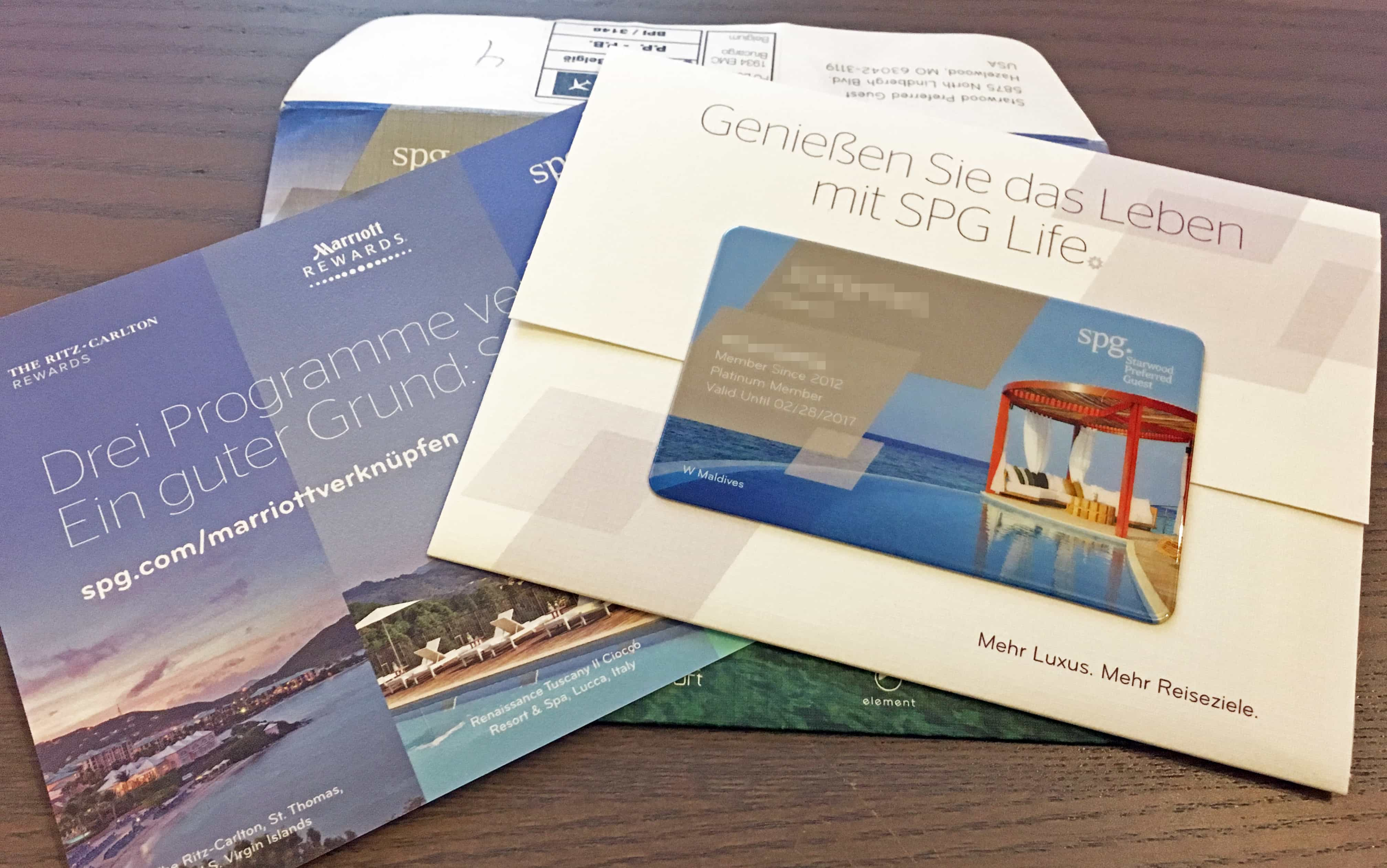 Starwood Preferred Guest Platinum Welcome Kit