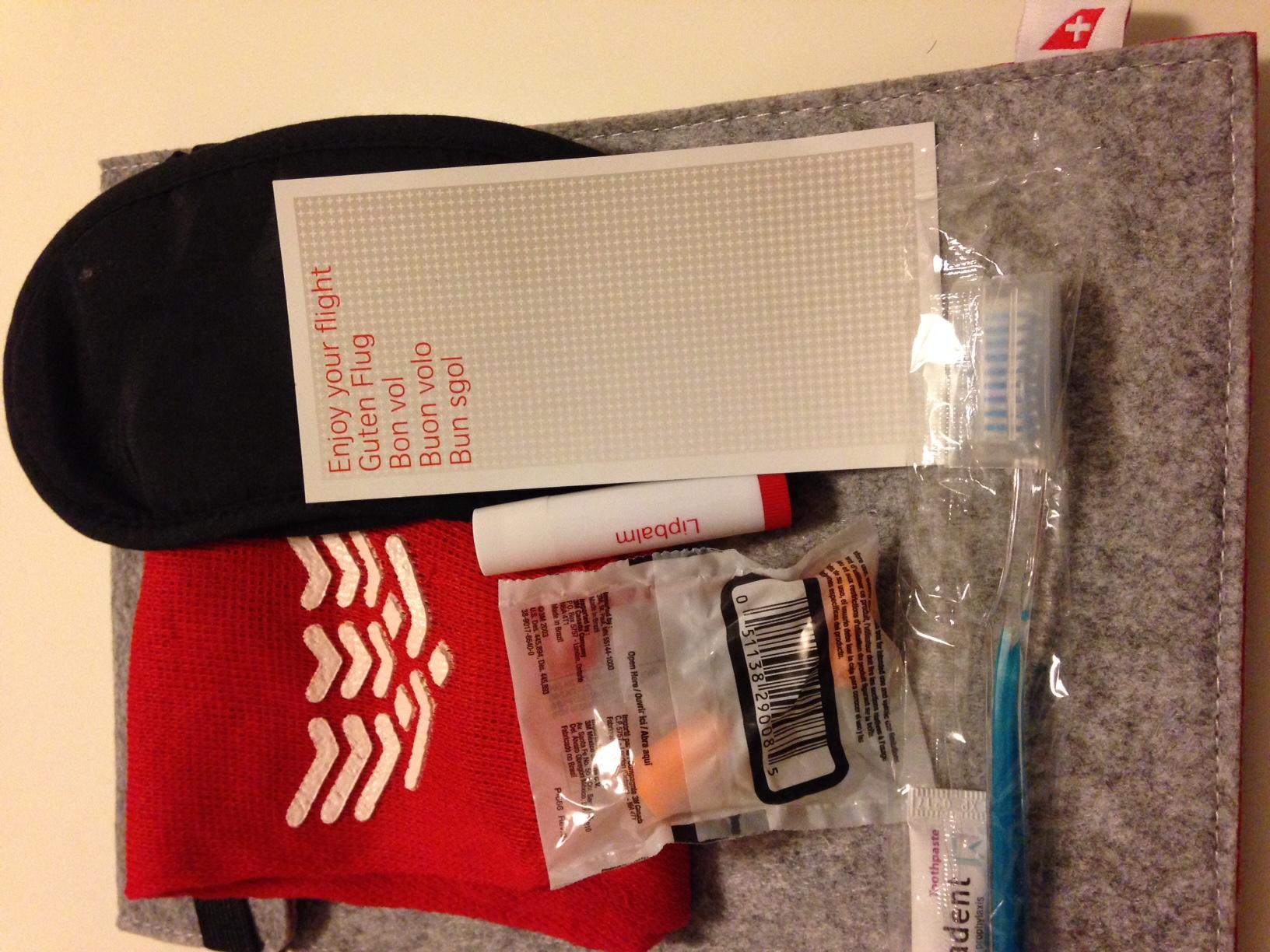 Swiss Business Class Amenity Kit Inhalt