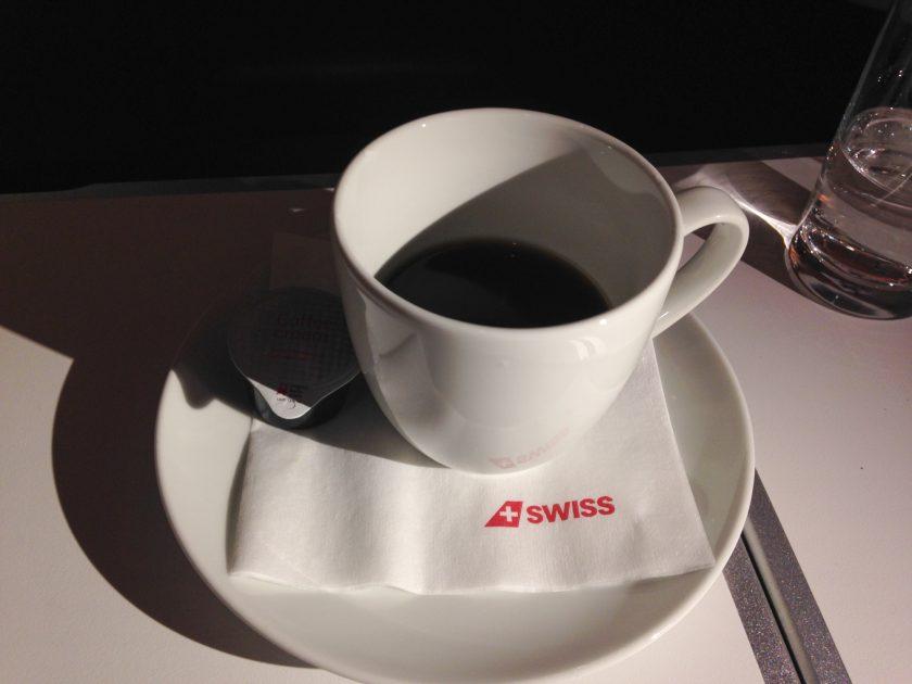 Swiss 777 Business Class Kaffee