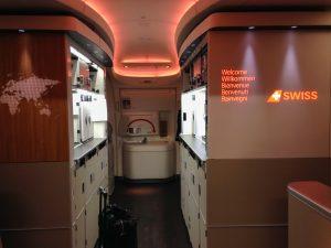 Swiss Boeing 777 Eingang