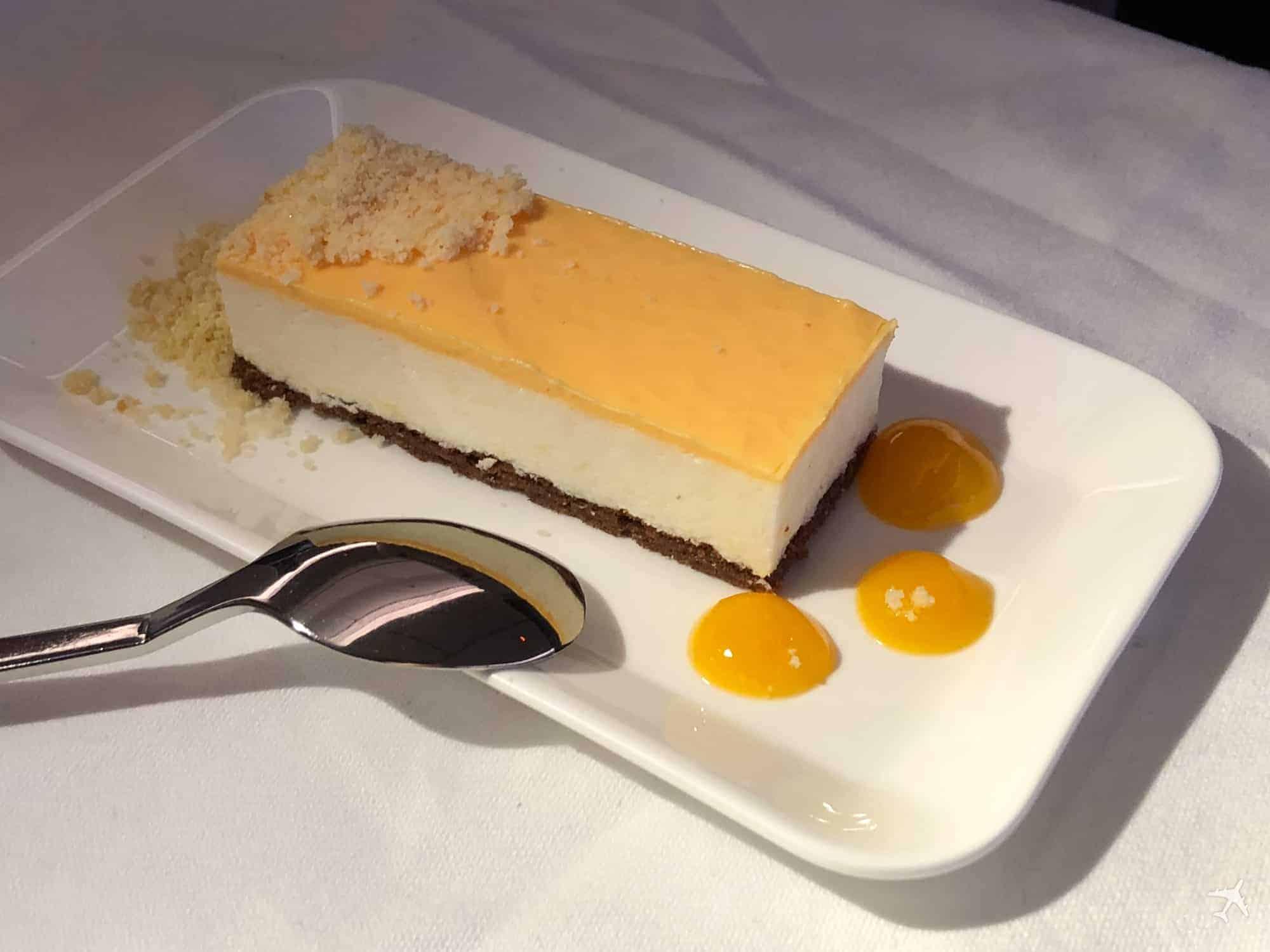Swiss Boeing 777 Business Class Dessert