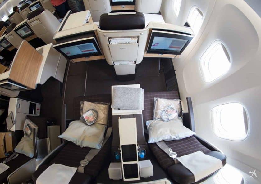 Swiss Boeing 777 Business Class Doppelsitz