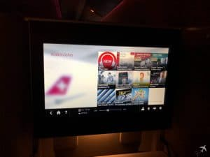 Swiss Boeing 777 Business Class IFE Audiobücher