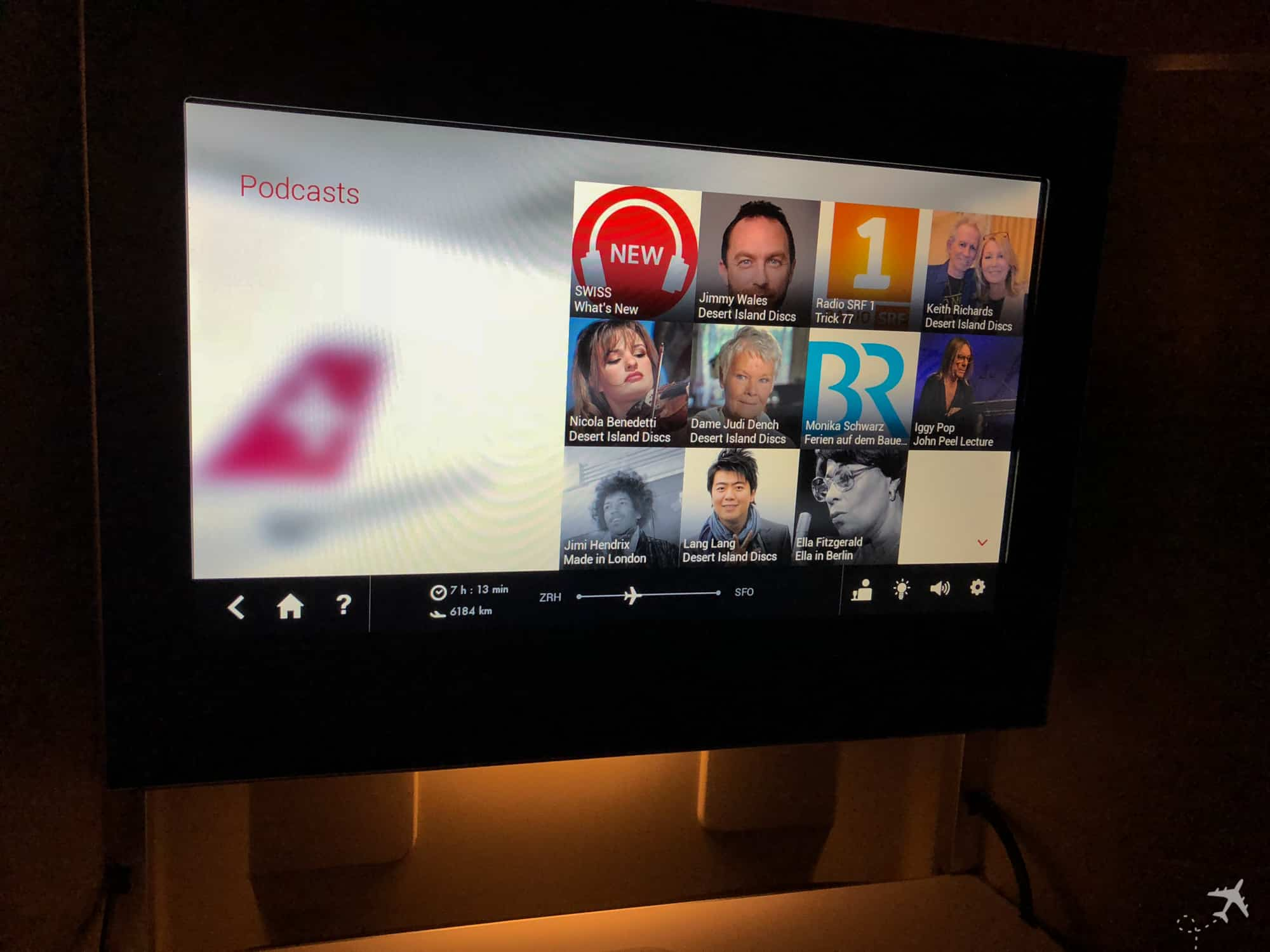 Swiss Boeing 777 Business Class IFE Podcast