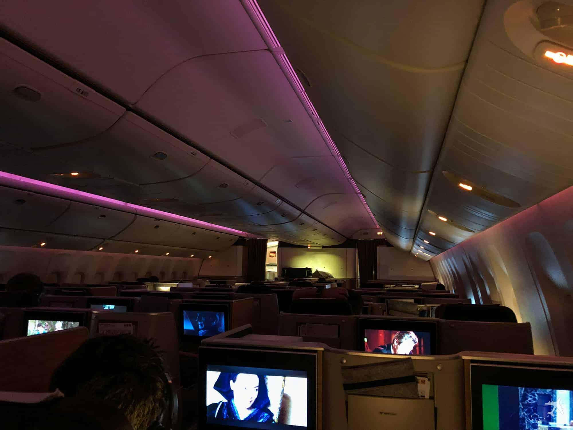 Swiss Boeing 777 Business Class Kabine