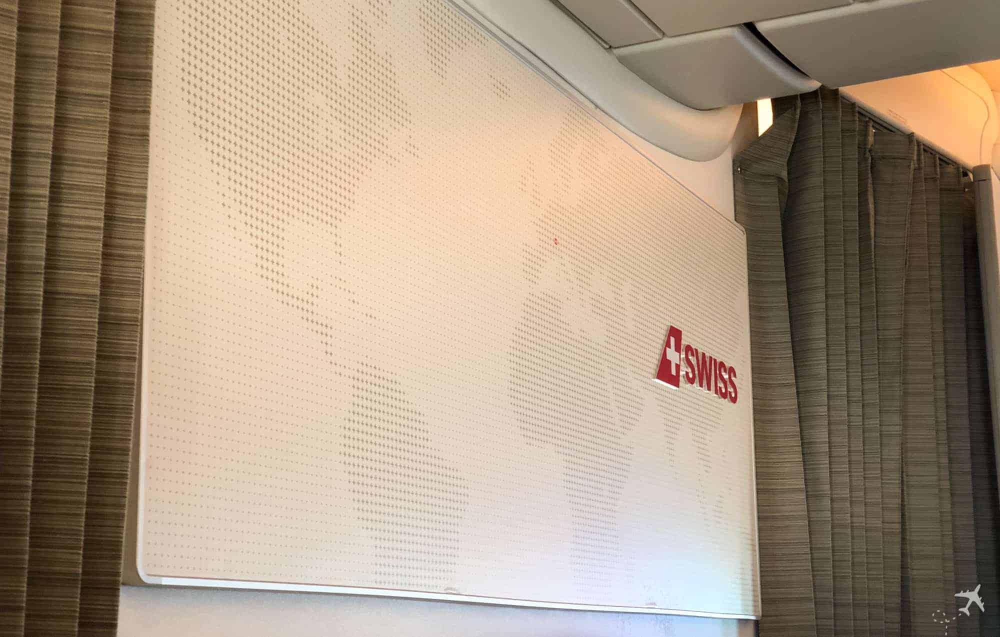 Swiss Boeing 777 Business Class Weltkarte