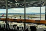 Swiss Business Class Lounge Zuerich Terminal E Ausblick Vorfeld