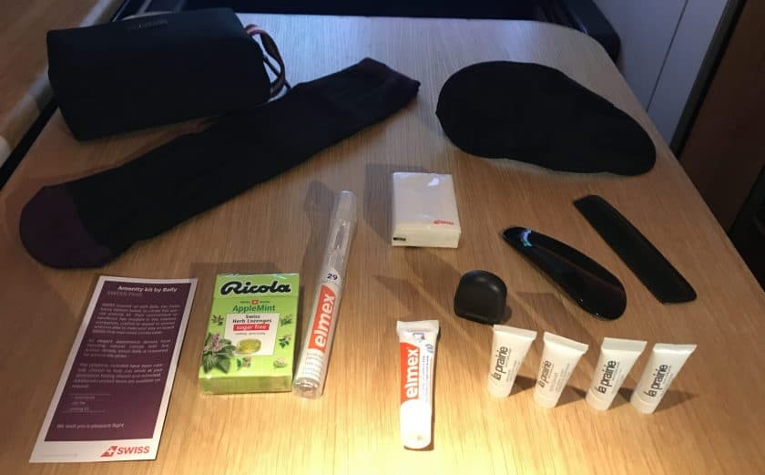Swiss First Class Review Amenity Kit