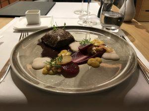 Swiss First Class Review Lounge A Gates Flat Iron Steak