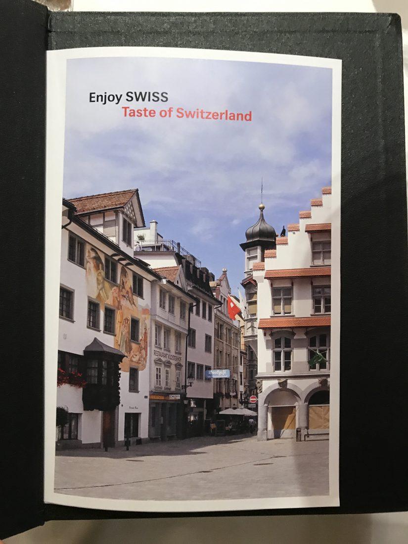Swiss First Class Review Lounge A Gates Menu 2