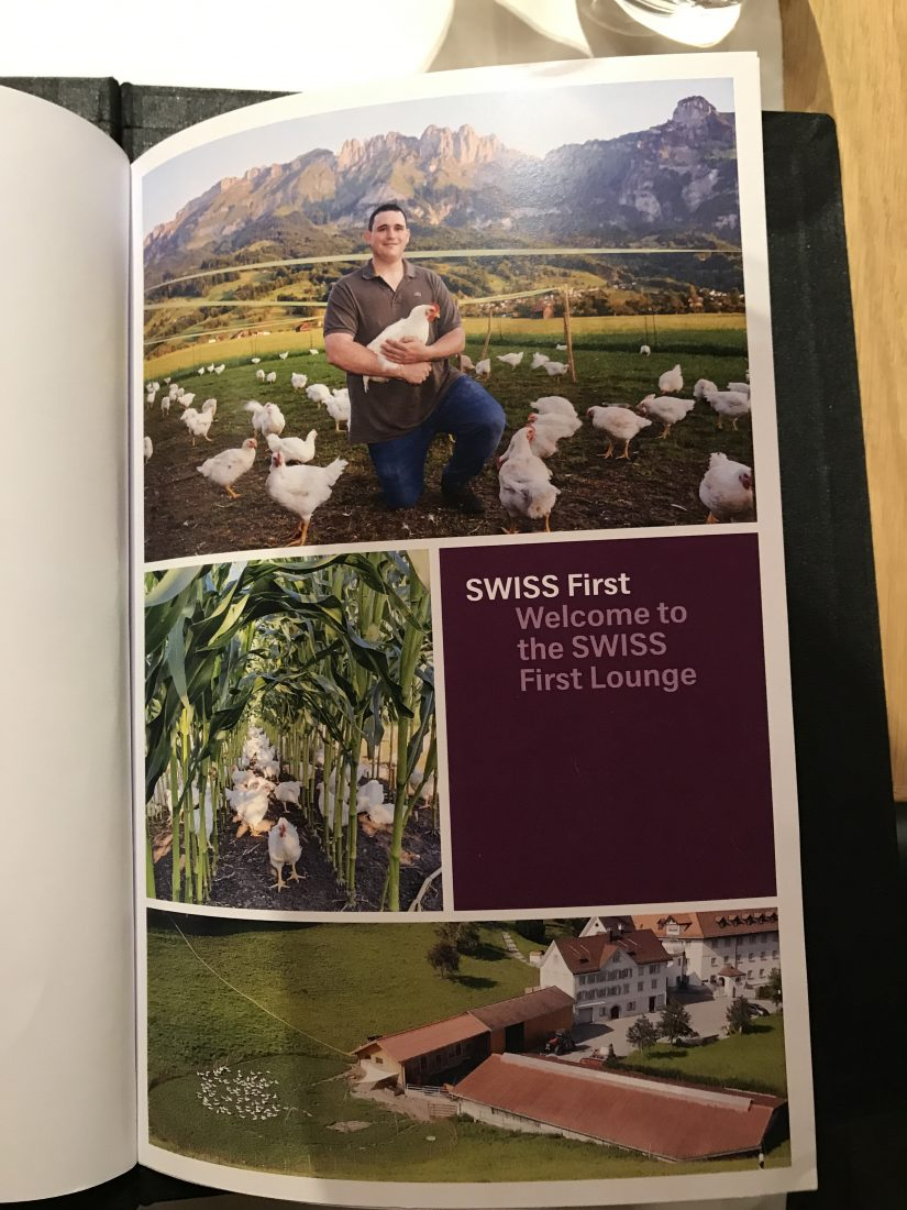 Swiss First Class Review Lounge A Gates Menu 4