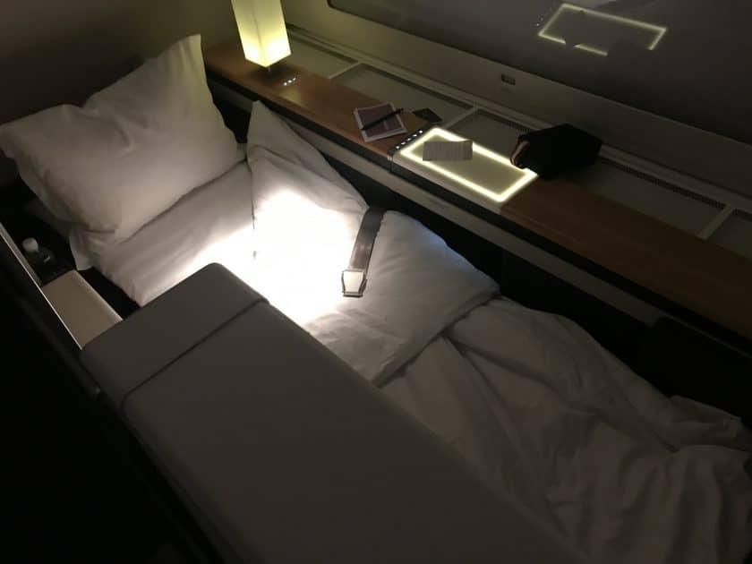 Swiss First Class Review Sitz zum Bett