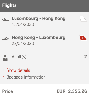 Swiss LUX HKG Partnerspecial