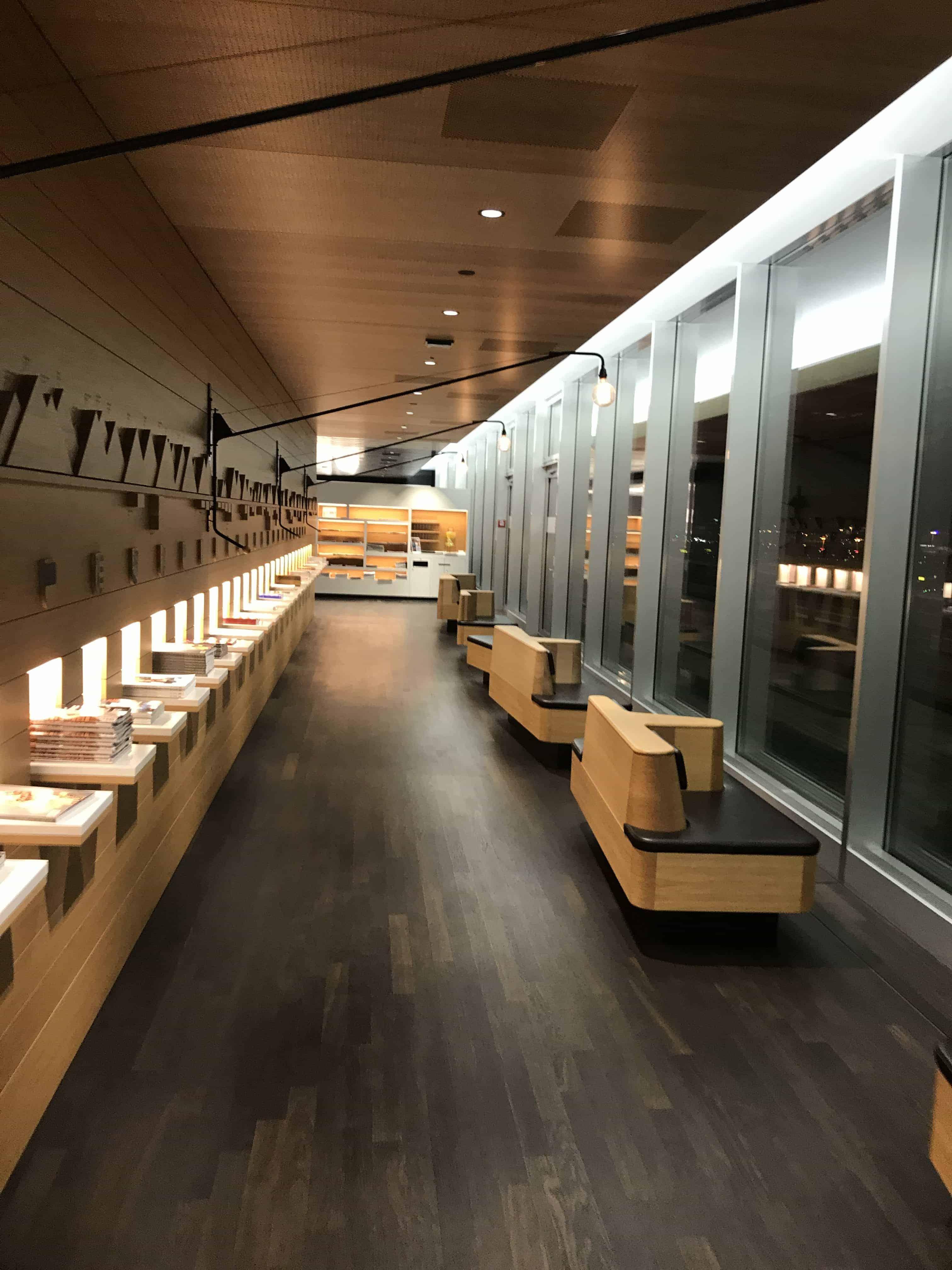 Swiss Lounge ZRH Lesebereich