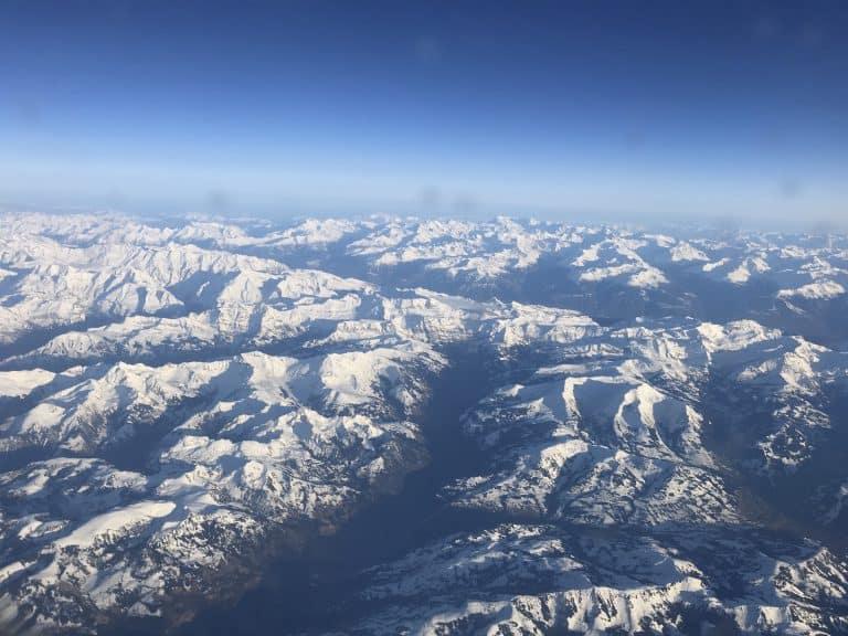 Ausblick über die Schweizer Alpen