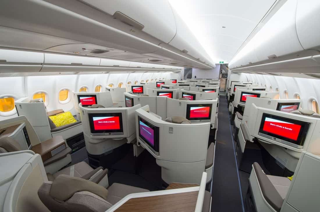 TAP Business Class Kabine Airbus A330 Neo