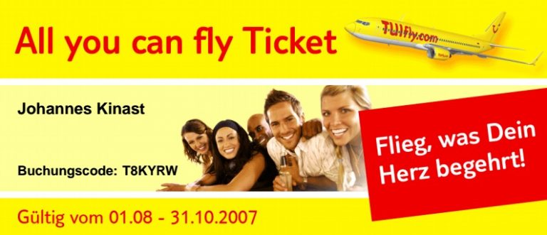 TUIfly All you can fly-Ticket