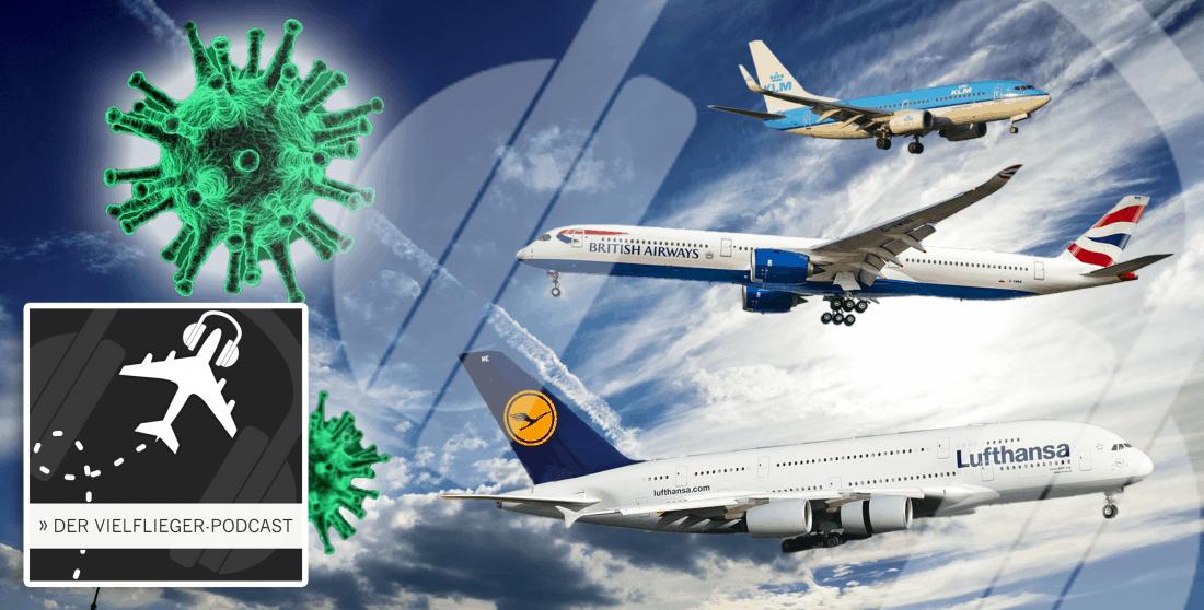 Titelbild Podcast 32 Corona Massnahmen Airlines