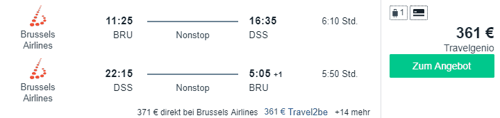 Travel Dealz BRU DSS Brussels Airlines