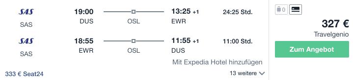 Travel Dealz DUS EWR SAS