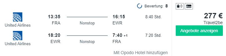 Travel Dealz FRA EWR UA Lufthansa