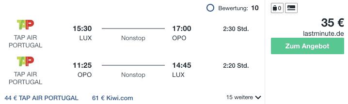 Travel Dealz LUX OPO TAP