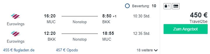 Travel Dealz MUC BKK Eurowings