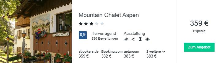 Travel Dealz Mountain Chalet Aspen