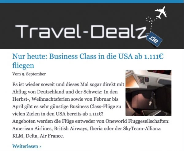 Travel-Dealz Newsletter V2