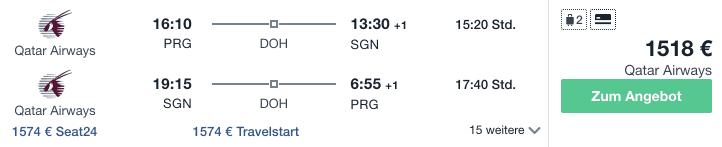 Travel Dealz PRG SGN Qatar Airways
