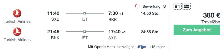 Travel Dealz SXB BKK Turkish Airlines