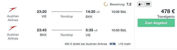 Travel Dealz VIE BKK Austrian