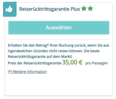 Travel2Be Reiseruecktrittsgarantie Plus