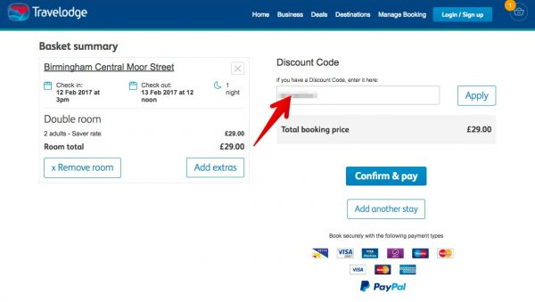 Gutscheincode travelodge