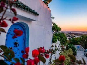 Mediterranean holiday, view over the city