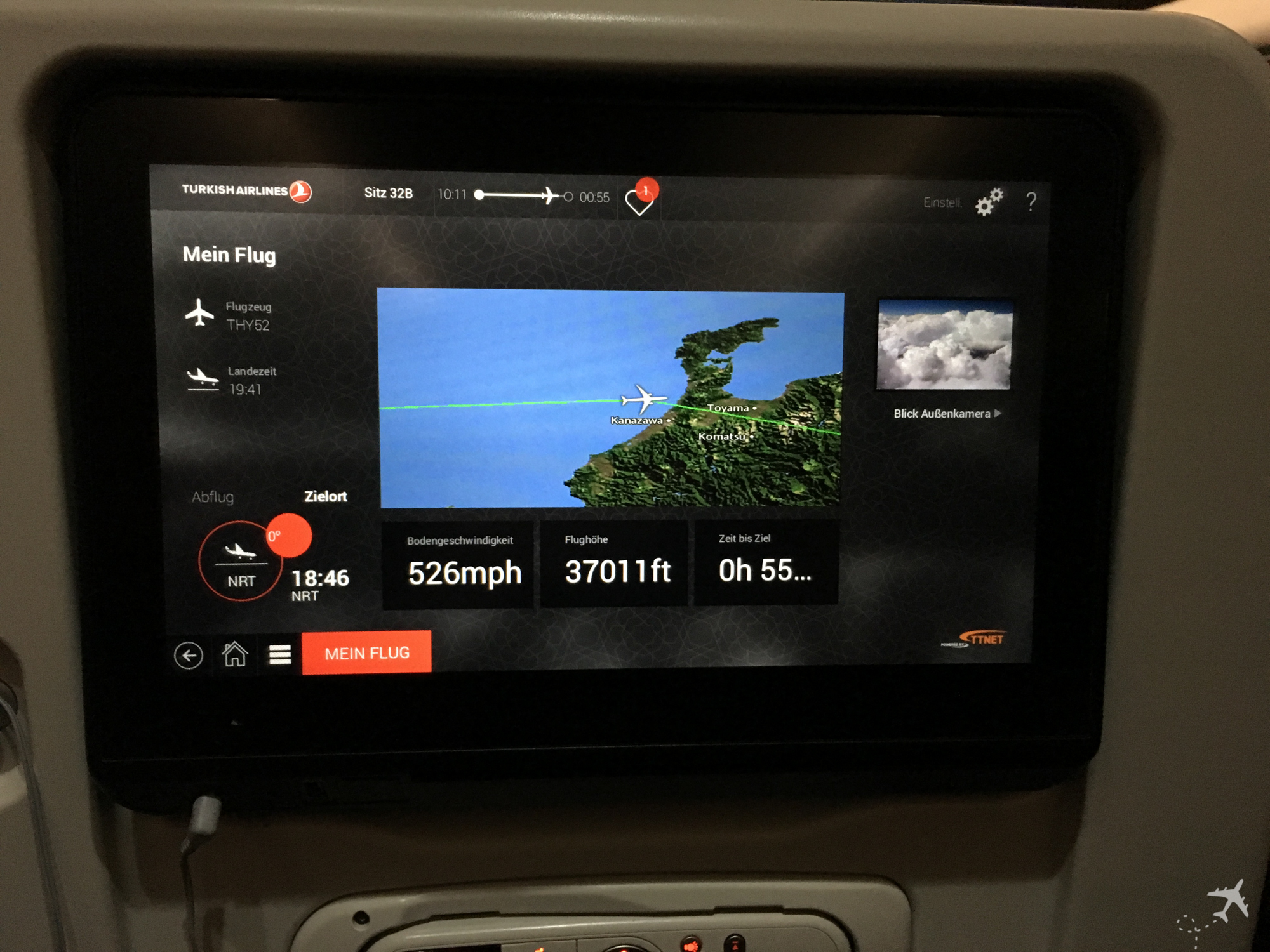 Moving Map, Turkish Airlines Moving Map