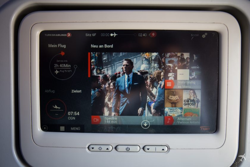 Turkish Airlines Economy Class Entertainment System