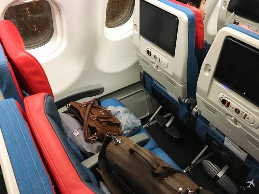 Sitzabstand in der neuen Kabine im Airbus A330 von Turkish Airlines