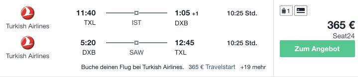 Turkish TXL DXB