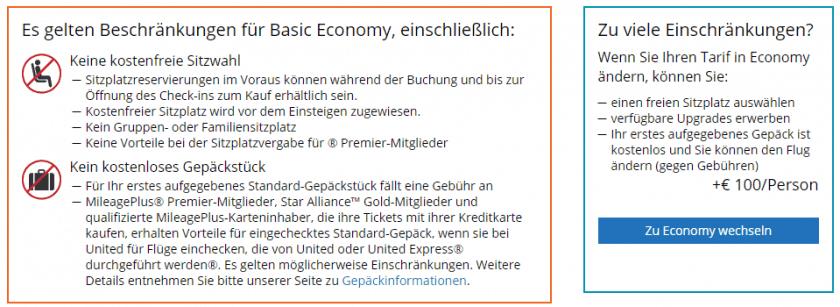 UA Basic Eco Hinweis