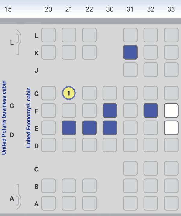 UA Seatmap Premium Eco