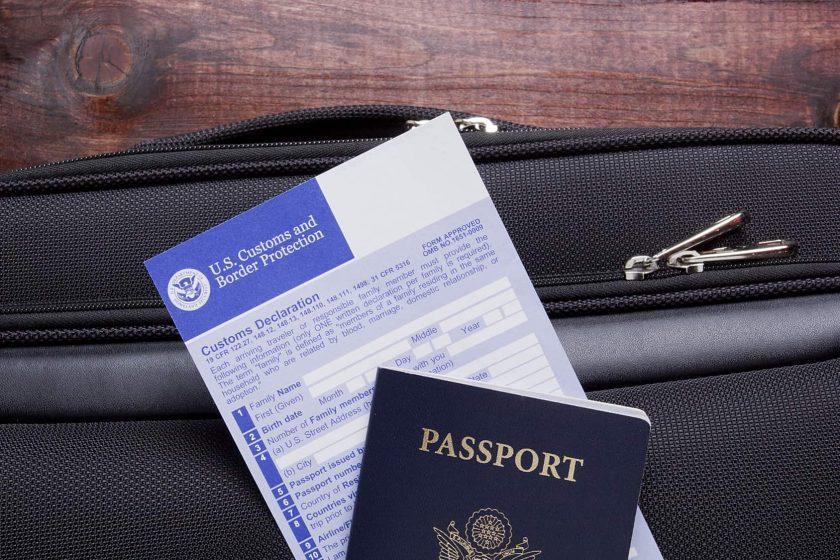 USA Customs declaration
