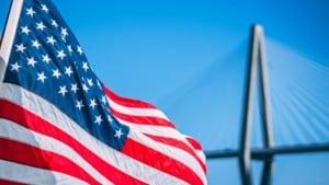 USA Flagge Bruecke