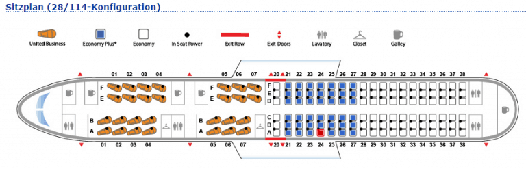 United 757 PS Seatmap