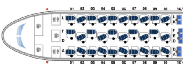 United 768 Seat Map