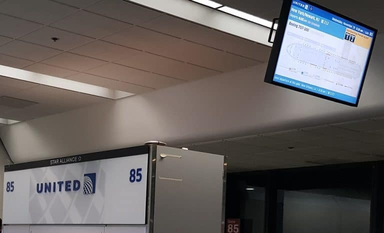 United Boarding Bildschirm