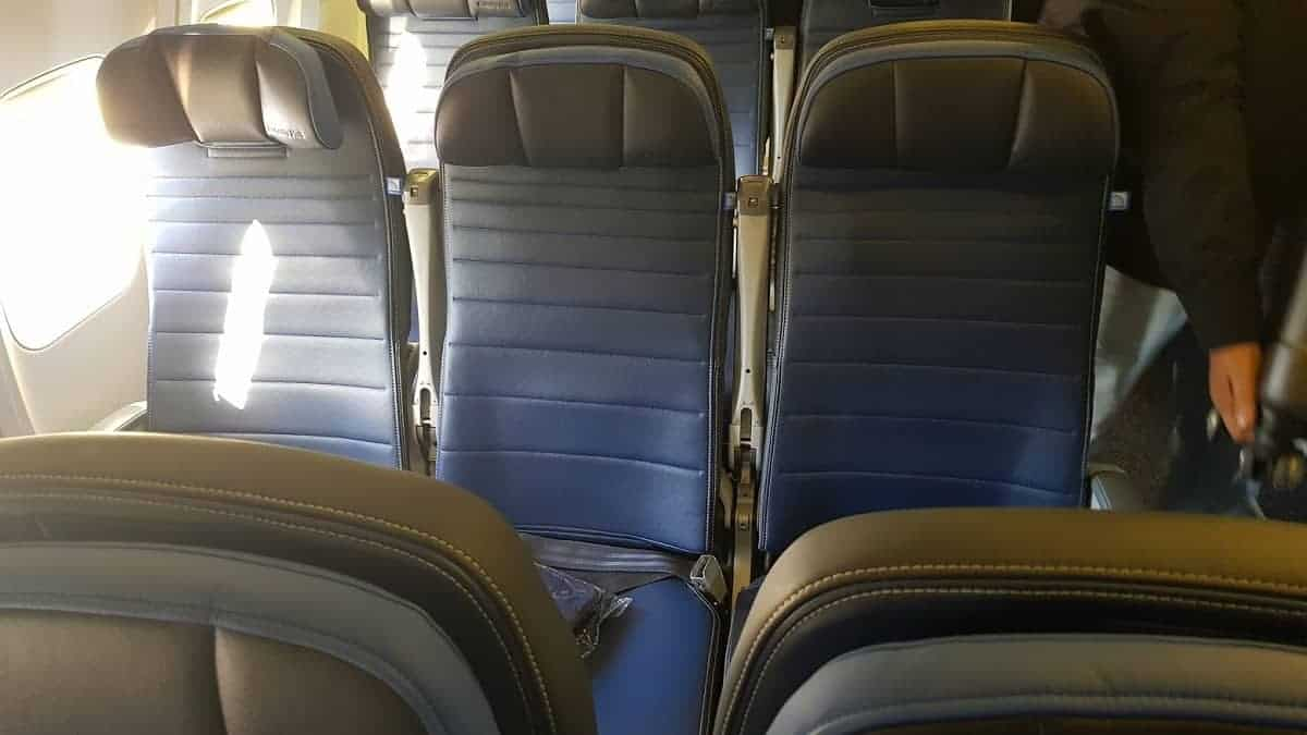 United Boeing 757 transcon Sitze 2